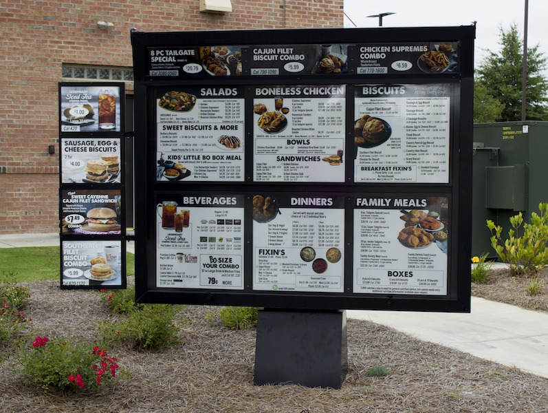 Illuminated LED Menu Boards